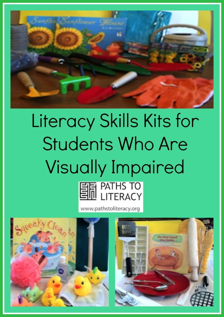 Ideas to create literacy skills kits to target the Expanded Core Curriculum (ECC) for children who are blind or visually impaired