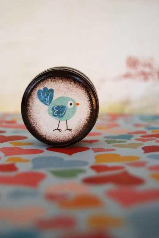 Little Blue Bird Pill Box by Mmim on Etsy, $4.75