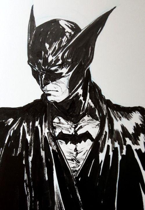 Batman Bill Finger/Bob Kane Style - Dave Rapoza