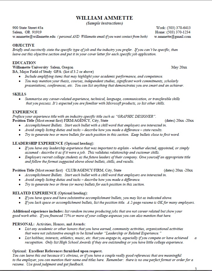 Career link resume helper