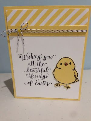 stampin4fun: a sweet Easter card using the limited time stamp Honeycomb Happiness.