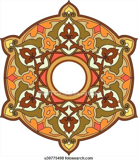 Circle leaf frame with copy space