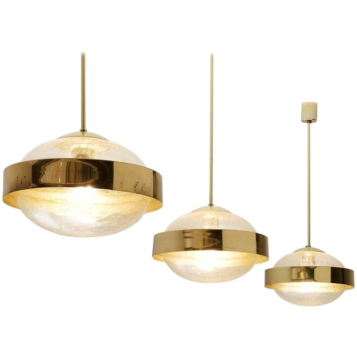 297 best lighting images on pinterest light fixtures chandelier set of three pendants in brass and glass mozeypictures Gallery