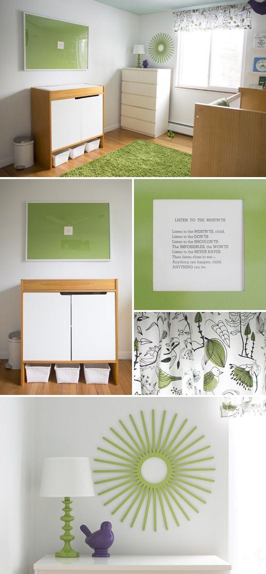 Modern Green and White Nursery