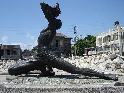 black maroon statue in Port-au-Prince, Haiti