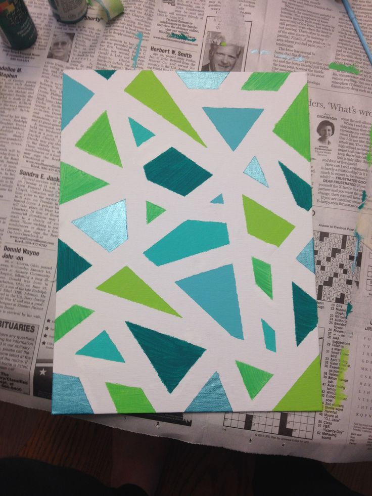 Canvas...you can do this with so many different colors!