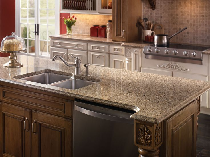 Silestone Quartz Countertops For Kitchens : Sienna ridge silestone alpina white