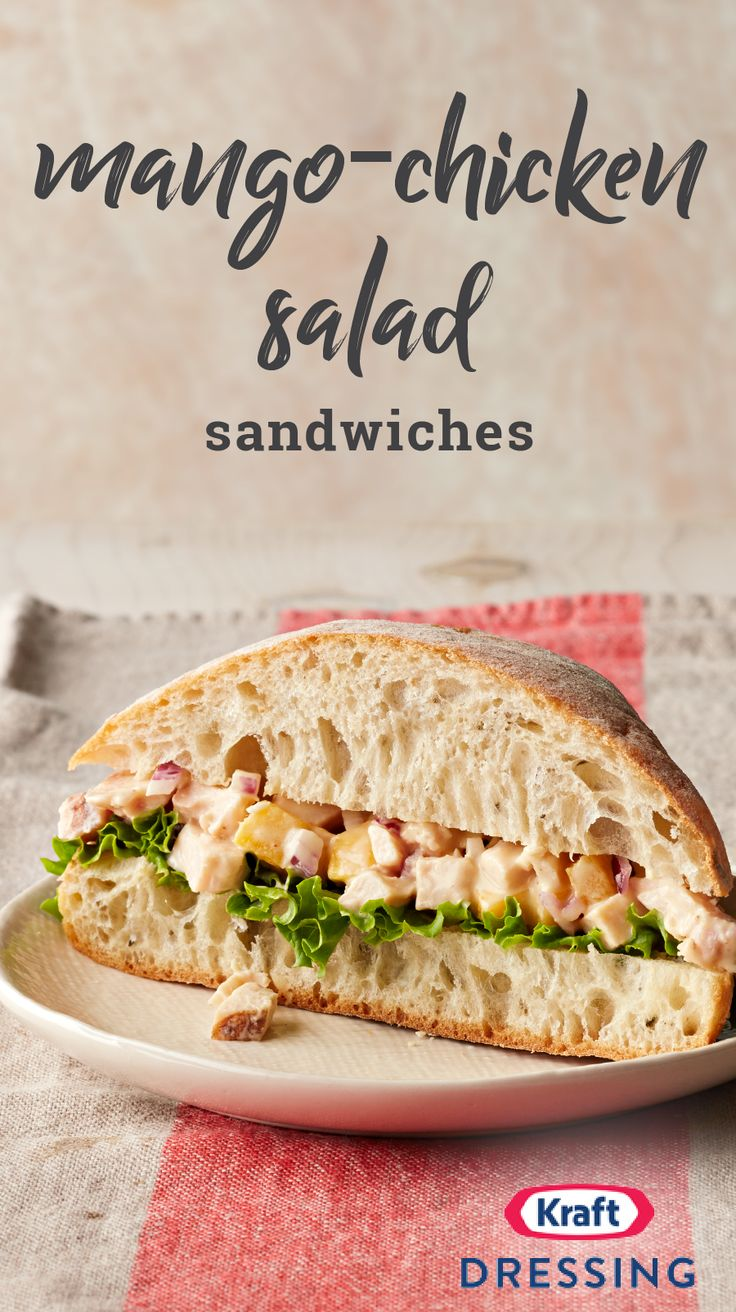 Mango-Chicken Salad Sandwiches – Make this flavorful sandwich recipe for a tasty entrée idea. See for yourself why this cool and creamy dish is becoming so popular!
