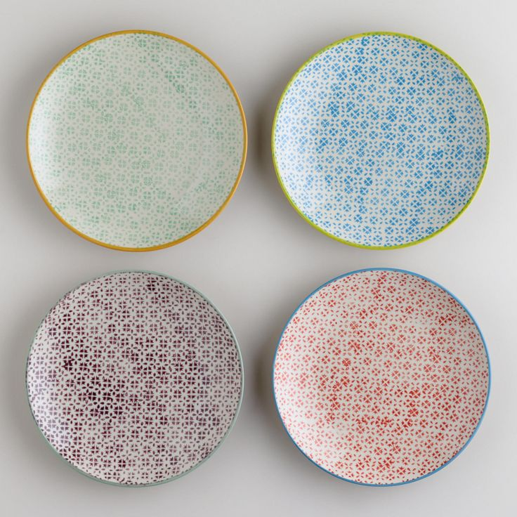 Charlotte Plates, Set of 4 / World Market ~ think I'm just going to have random plates in the house
