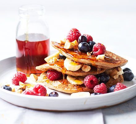 Silken tofu is the secret to making a stack of fluffy, thick, American-style vegan pancakes without gluten, eggs or dairy