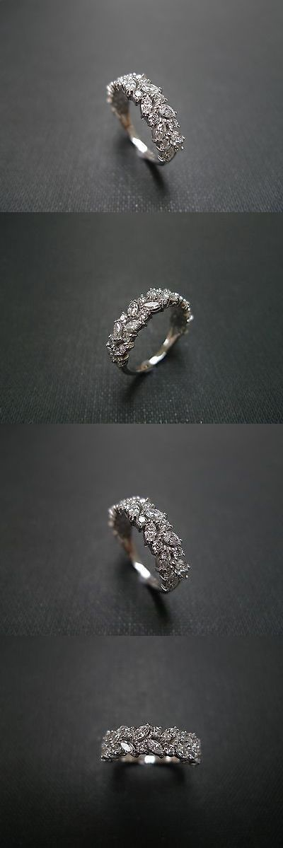 Wedding rings: Estate Vintage Marquise Diamond Engagement Wedding Ring Set In 14K White Gold -> BUY IT NOW ONLY: $359.99 on eBay!