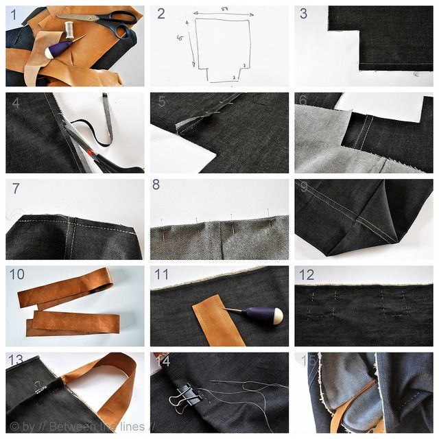 simple raw-edged denim bag tutorial.  I think this would be lovely in canvas with contrasting thread too.