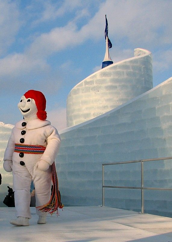 Winter Carnival in Quebec City (Bonhomme Carnaval pictured)