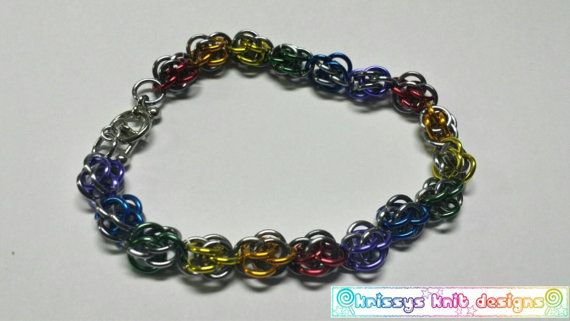 Check out this item in my Etsy shop https://www.etsy.com/listing/236101696/sweetpea-rainbow-chainmaille-bracelet