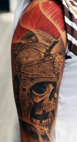 Roman Skeleton Tattoo For Men