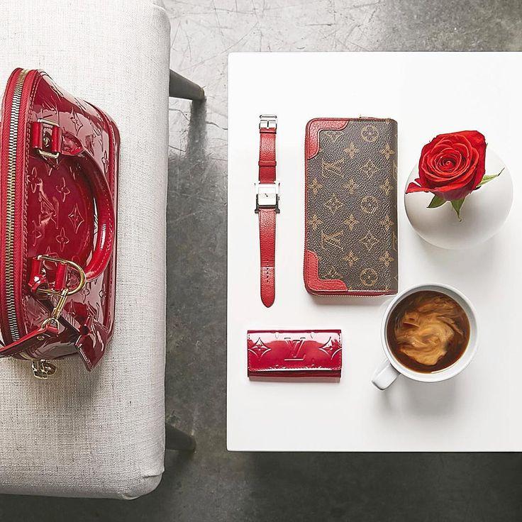 2017 Fashion Trending. Red Accessories For Women. Louis Vuitton Alma Handbags & Wallet.