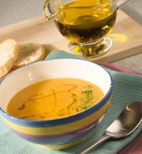 Суп-крем из бобовых с оливковым маслом