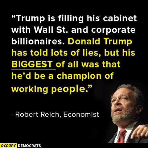 I honestly feel pretty bad for the people who voted for him? Believing he teally was on their side.   #RobertReich - Twitter Search