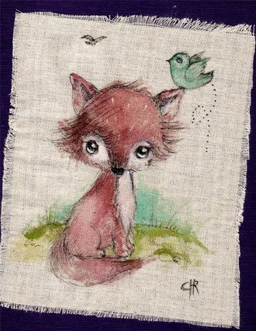 Original+Pen+Ink+Fabric+acrylic+colors+painting+by+ppinkydollsart,+$9.50