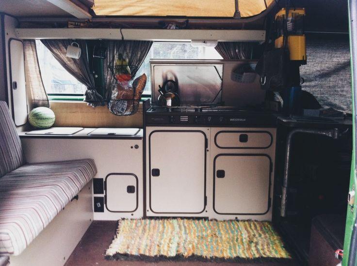 westfalia interior van life vw camper vw vanagon