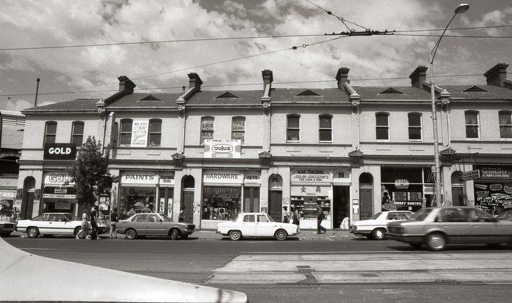 West Melbourne Victoria Street 69-71, Queen Victoria Market shops 1983  Same view today: https://www.google.com.au/maps/@-37.8061257,144.9589435,3a,37.5y,184.54h,95.22t/data=!3m4!1e1!3m2!1sjEMHGew5KkIm0MngeNywVA!2e0