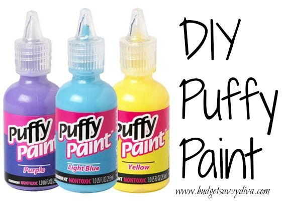 How to Make Puffy Paint | Budget Savvy Diva