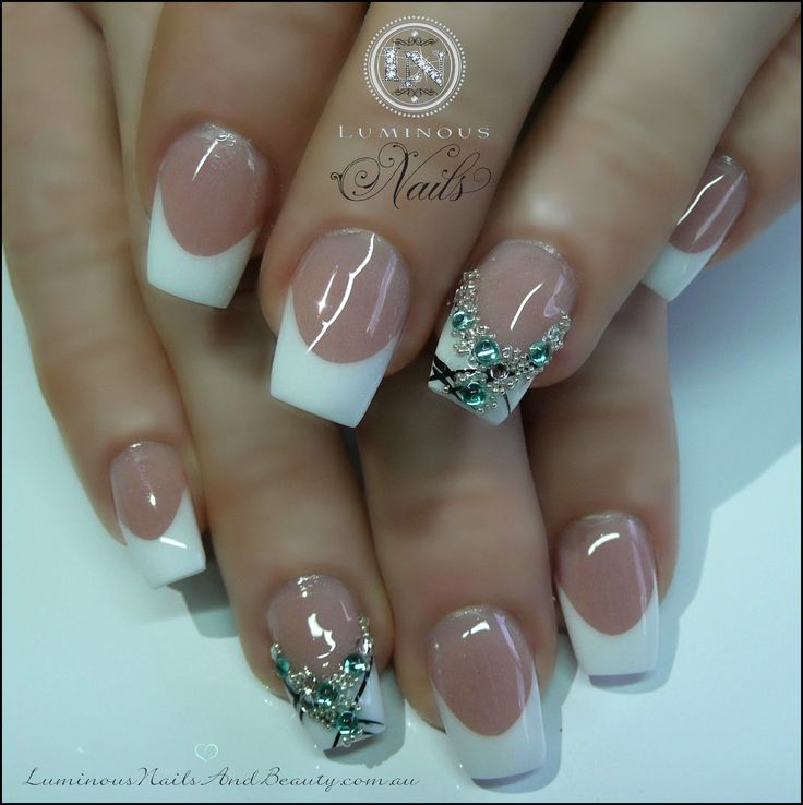 French Design Nail Art Gallery: Pin By WhiteRose On Nail Art