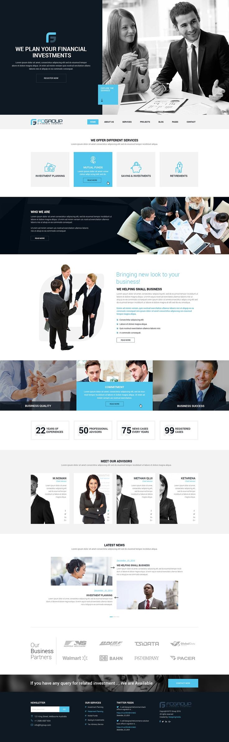 Website Theme for Business / Corporations / Agencies