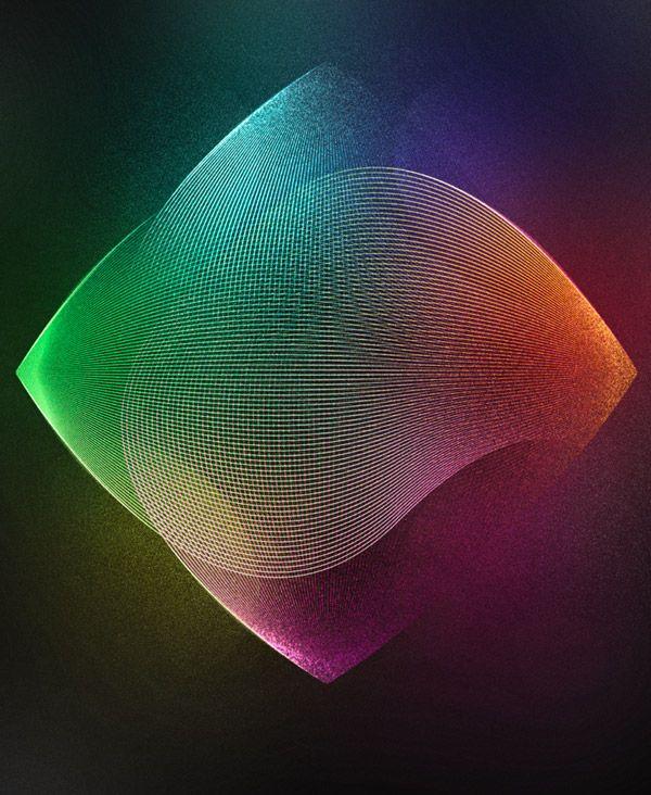 Tutorial: Vibrant grainy abstract lines artwork
