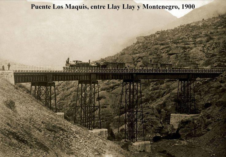 Puente los Maquis entre Llay Llay y Montenegro - 1900