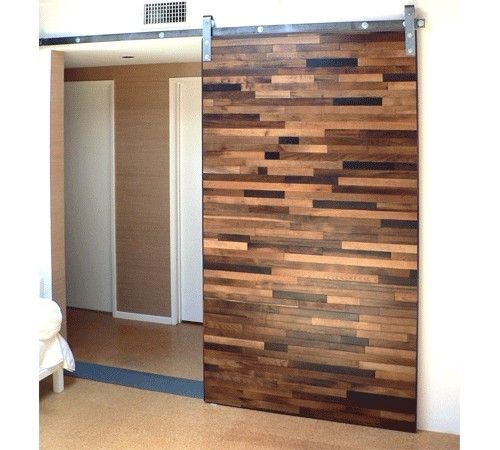 More of a modern look for a reclaimed wood door, but there are many  different - 79 Best Images About Reclaimed Wood Doors On Pinterest Sliding
