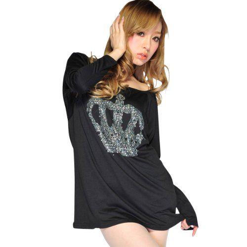 Amazon.co.jp: Tシャツ レディース ワンピース クラウンロゴ ロンT Aライン 長袖 レディース 【大きいサイズ対応】M L XL 2L XXL 3L XXXL 4L サイズ: 服&ファッション小物通販