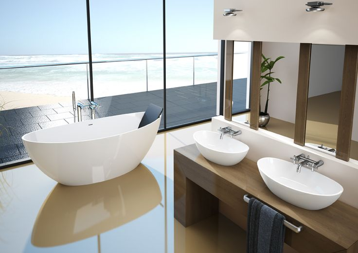 Hösch Badewanne und Waschtischschalen