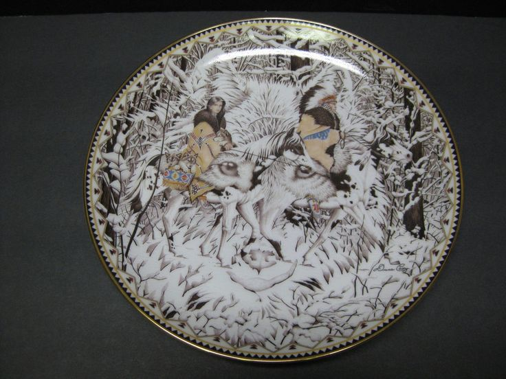 Diana Casey 1997 COLLECTORS  Plate-Where Paths Join-Shared Worlds Series, #3681A