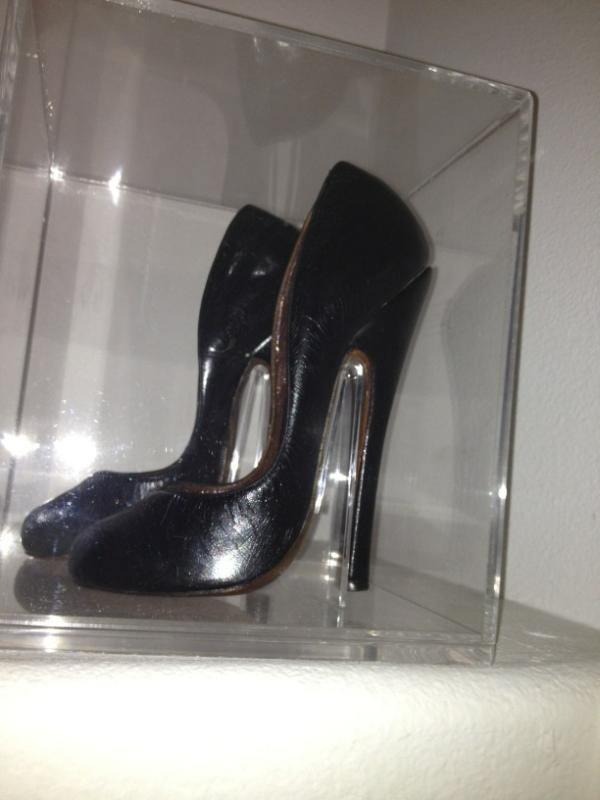Betty Page's shoes, owned by Olivia De Berardinis