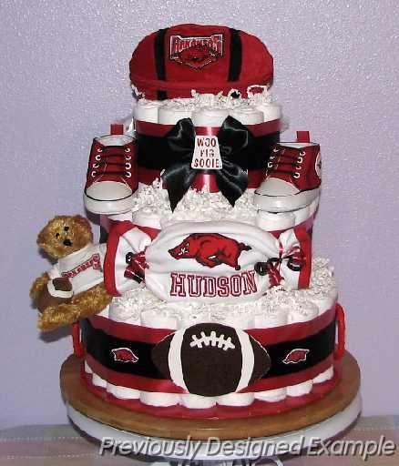 Arkansas Razorbacks Diaper Cake...so cute!!