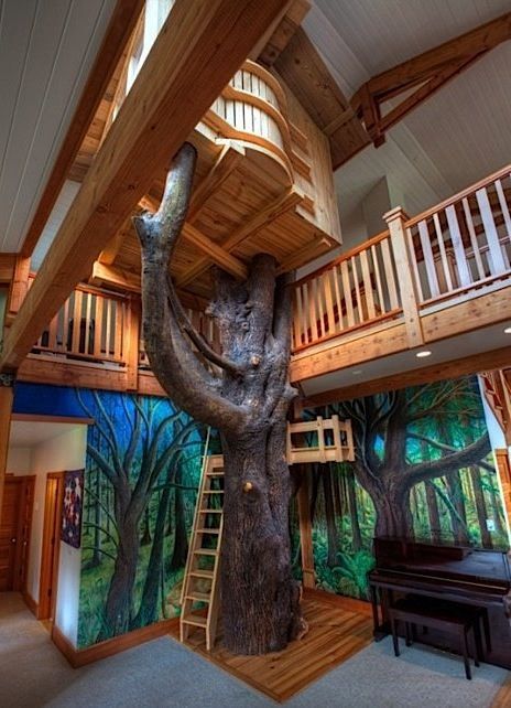indoor tree house bed for kids