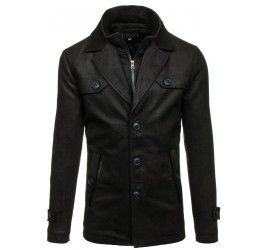 Pánský kabát - Julius, černý | TAXIDO fashion
