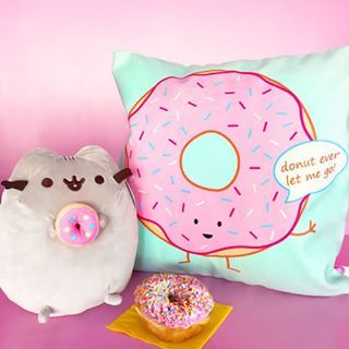 """donut ever let me go!""  Who's ready for #donutday? @pusheen and everyone at @queeniescards takes this food holiday very seriously, if you couldn't tell by our jolly smiles  Oh! You gotta see @therollingpinto's new location and treat yoself to a bunch of sweets! Then visit us and drop off said treats while you shop  #queeniescards #donuteverletmego #pusheen #pinkdonut #ilovedonuts #donuts #donutsarelife"