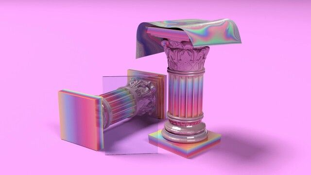 color   pink + iridescent
