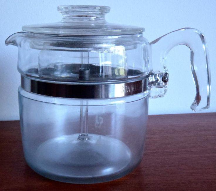 Vintage et retro : cafetière percolateur Pyrex 4-6 tasses