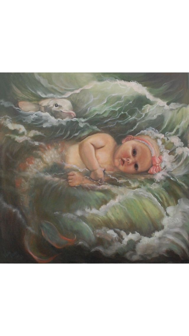 Mother and Baby Mermaid Art | Baby mermaid