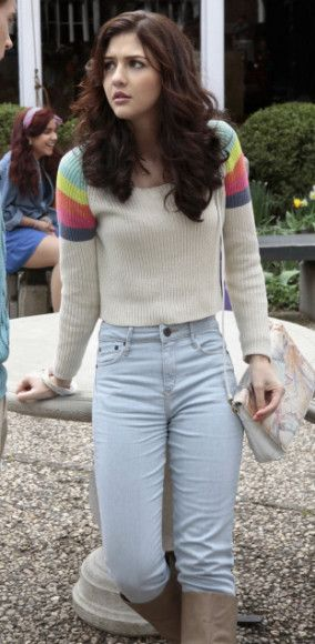 Maggies rainbow sweater on The Carrie Diaries