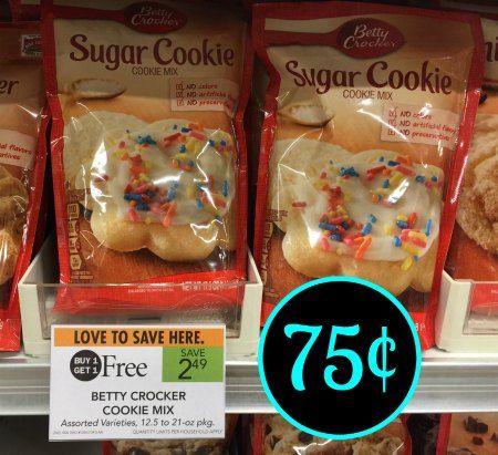 Betty Crocker Ibotta For Publix BOGO – Cookie Mix As Low As 75¢ At Publix
