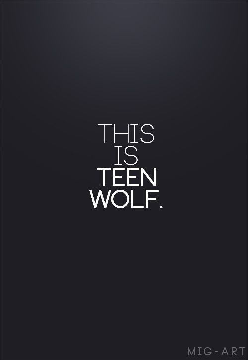 This is Teen Wolf.