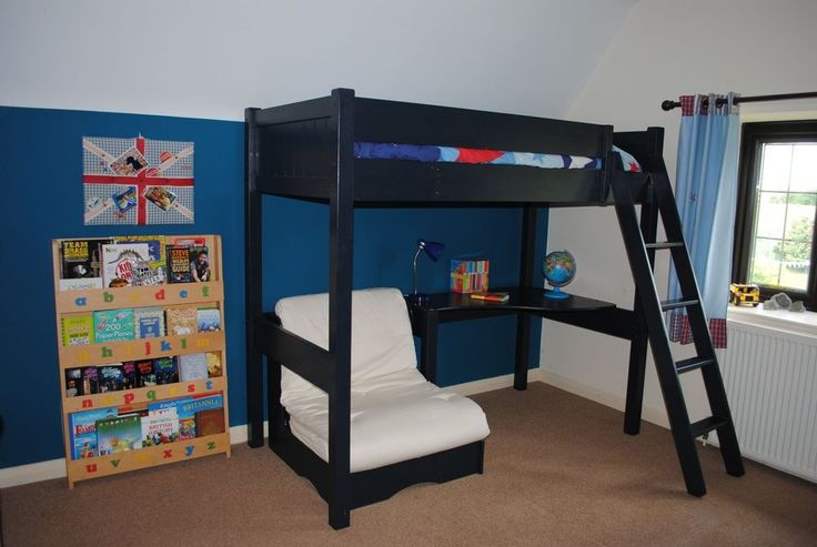 Aspace warwick high sleeper loft bed with futon and nearly for Furniture zone warwick