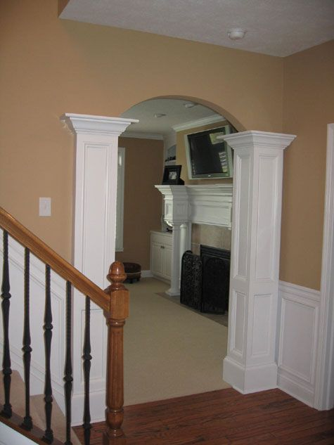 What not to do if you are going to build up the wall for for Indoor column ideas