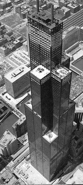 Sears Tower under construction, 1972 or 1973