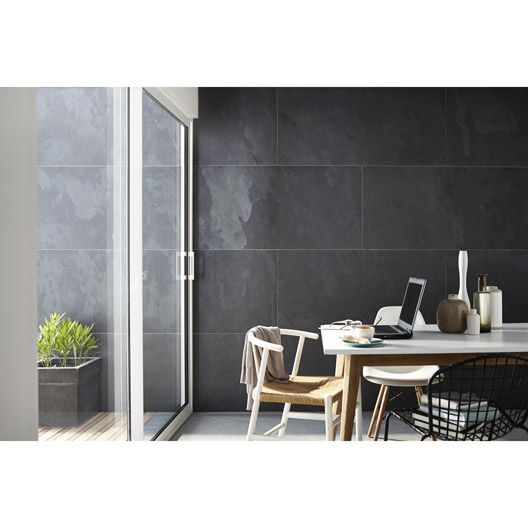 Feuille de pierre SLATE SKIN, noir, 1220x610 mm