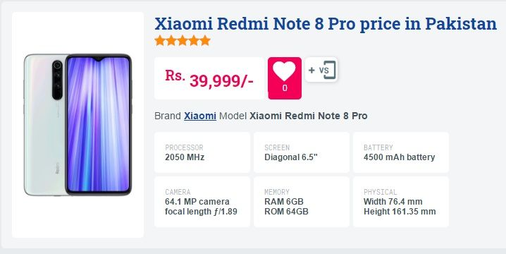 Xiaomi Redmi Note 8 Pro Price In Pakistan 64gb Xiaomi Notes Note 8